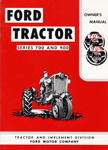 700-900 Owners Manual 1954-1957