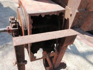 Auger collector box from a 1957 Ford One-Row Picker-Sheller