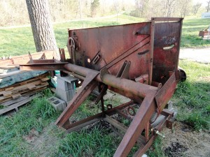 Beginning teardown on Ford One-Row Picker-Sheller