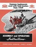 Common Implements Used With Ford Tractors from 1939
