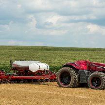 CHN autonomous tractor in the field