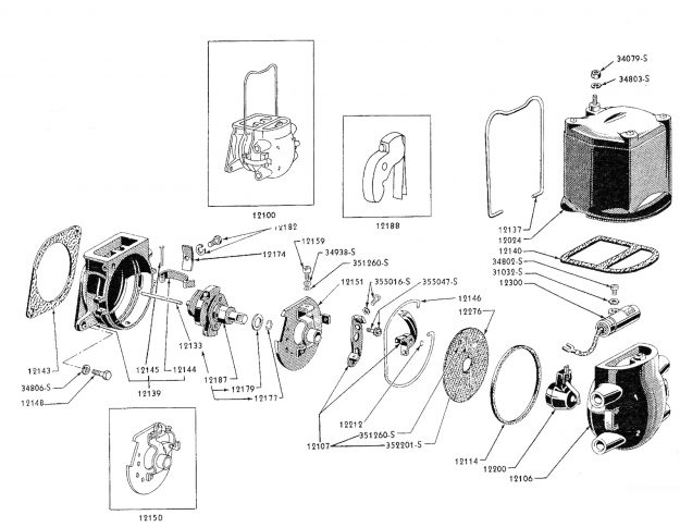 Distributor disassembly diagram